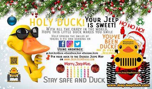 Free Christmas DuckDuckJeep Tag