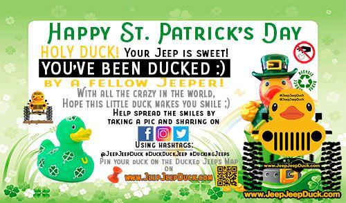 Saint Patrick's Day Free DuckDuckJeep Tag