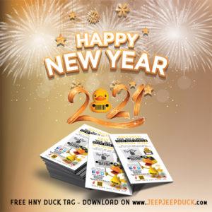 Free DuckDuckJeep New Year 2021 Tag