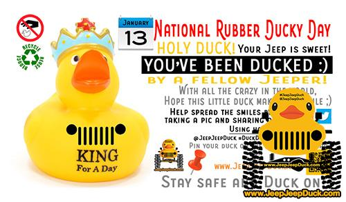 National Rubber Ducky Day Free DuckDuckJeep Tag