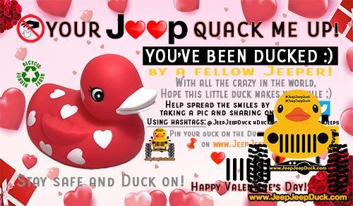 Free San Valentine's day DuckDuckJeep Tag