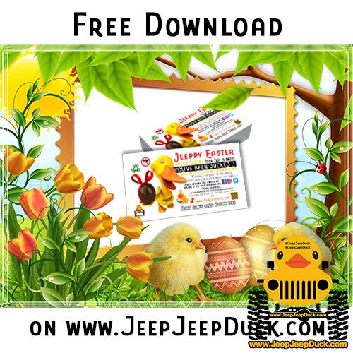 Free Easter DuckDuckJeep Tag