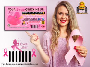 Breast Cancer Awareness Free DuckDuckJeep Tag