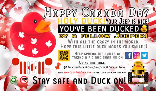 Canada Day Free DuckDuckJeep Tag