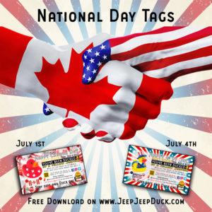 Free DuckDuckJeep National Day Tags
