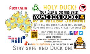 Free Australia DuckDuckJeep Tag