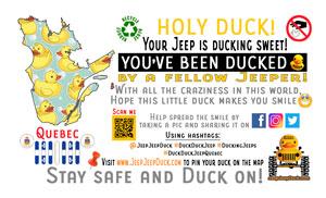 Free DuckDuckJeep Quebec Tag