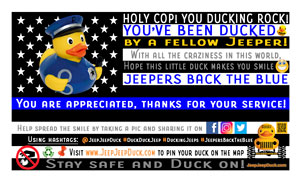 Free Jeepers Back The Blue DuckDuckJeep Tag