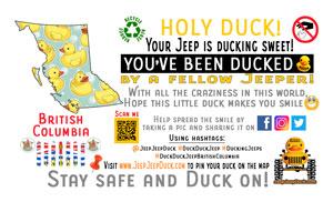 Free DuckDuckJeep Printable British Columbia Tag