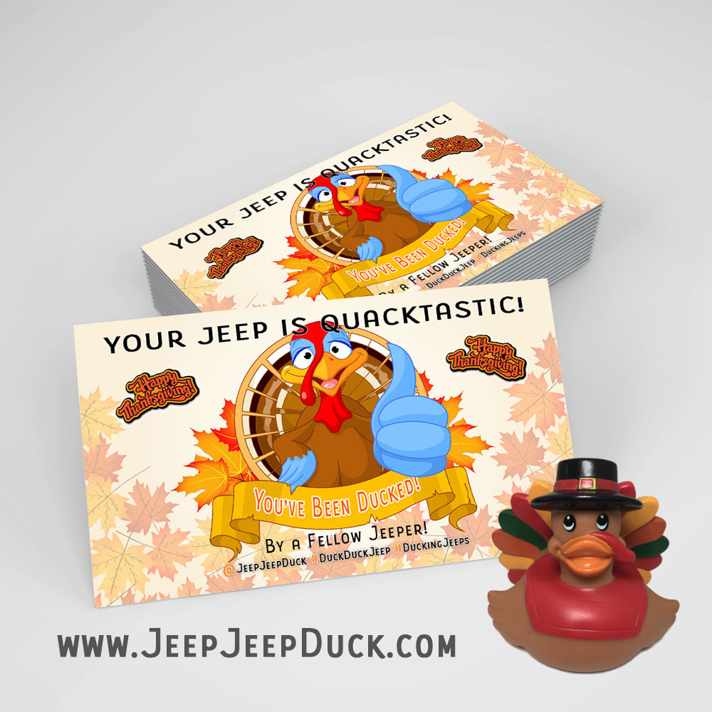 Duck Duck Jeep Tags For Thanksgiving